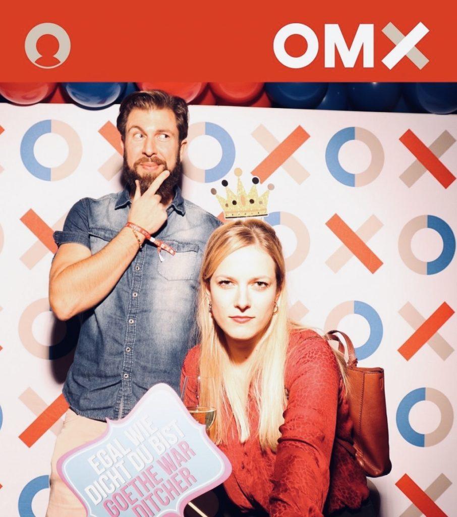 Thomas und Anja auf der OMX Networking Party im Fuxn
