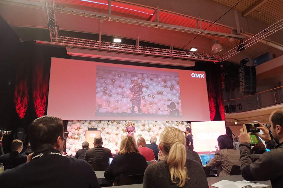 Das Opening der OMX Konferenz